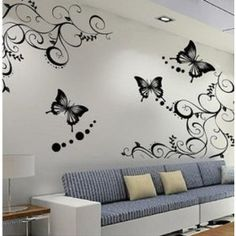 I like this wall of butterflies to! I really love the detailing the artist put into painting each one.