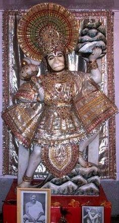 Hanumanji Idol at NKB Vrindavan ashram