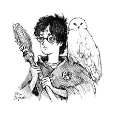 Harry Potter by Ulla Thynell / @ullathynell on Instagram