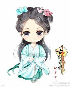 小图片月言 Chibi, Girl Cartoon, Anime Fantasy, Illustration Art Girl, Cute Cartoon, Chibi Girl, Boy Art, Chibi Drawings, Anime Chibi