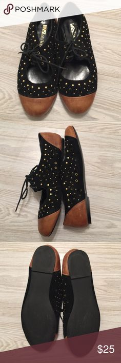 Matiko shoelace loafers Cute studded leather loafer to jazz-up your outfit! Worn two times, still good as new! Comes without original box! matiko Shoes Flats & Loafers