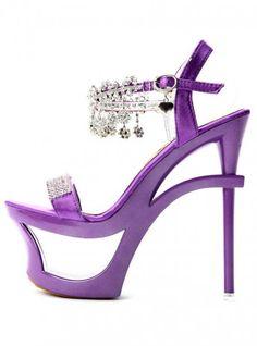 Purple Diamond High-heeled Sandals