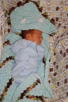Hooded dino blanket