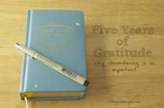 Five Years of Gratitude - Why Remembering is Important {Little Girl Designs}
