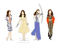Duchess of Cambridge Royal Tour INDIA Prints by RepliKateIt