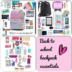 This is just a few things I would keep in my backpack but you can add or take out some of these things depending on what you need