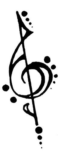 Notenschlüssel als Tattoovorlage-Ideen mit musikalischen