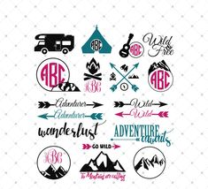 Camping SVG Cut Files for Cricut and Silhouette, Traveling svg cut files…