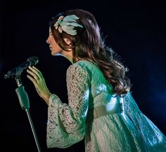 Lana Del Rey performing at the Moon And Stars festival in Locarno, Switzerland, July 15, 2016
