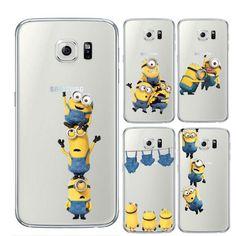 Minion Phone Case For Samsung Galaxy S7 Edge S8 Plus S6 S5 S3 J3 J5 A3 A5 2016 2017...