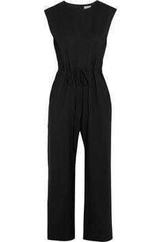 Maiyet - Cropped Stretch-wool Twill Jumpsuit - Black - US10