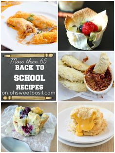 More than 65 breakfast, lunch, snack, and dinner ideas to get you all ready for back to school season! on ohsweetbasil.com