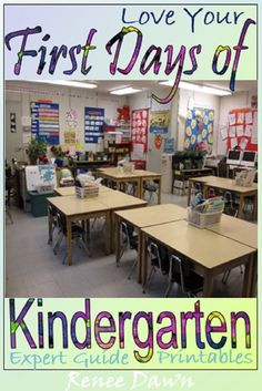 First Days of Kindergarten � teacher scripts, lessons, posters, printables and tips. AND School Rules � Detailed lessons, lists, charts, mini-book, bulletin board writing and rubric � Start the year with calm and confidence! AND Bathroom Rules � photos, routines, signs, safety, bathroom passes and sign-out sheet.