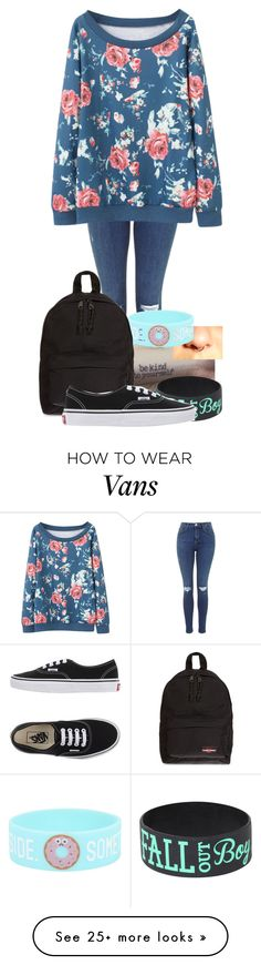 """""""Untitled #344"""" by londoner6401 on Polyvore featuring Eastpak and Vans"""