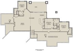 Mountain Plan: 3,526 Square Feet, 2-5 Bedrooms, 2.5 Bathrooms - 5631-00110 Best House Plans, House Floor Plans, Open Floor Concept, Courtyard Entry, Heating And Plumbing, Mountain House Plans, Jack And Jill Bathroom, Walkout Basement, Covered Decks