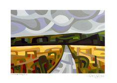 "Daily Paintworks - ""Landscape Study #30"" - Original Fine Art for Sale - © Mandy Budan"