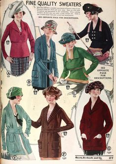 Sweaters for the Radium Girls 1920s Outfits, Vintage Outfits, Vintage Fashion, Vintage Clothing, Radium Girls, Lady Mary, Fashion Designer, Fair Isles, Illustrations