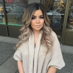 Perfect hair blend. balayage | light blonde | ombre | ash | dark roots | by Divonsir Borges