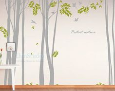 Tree vinyl wall decals wall stickers nursery vinyl by ChinStudio