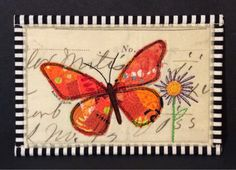 freezeframe: Orange Collage Butterfly