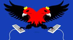 Illustration about russian internet propaganda & trolling. Illustration: Yle Kioski / Riikka Kurki #eagle #eagles #russia #twoheads #troll #disinformation #socialmedia #writing