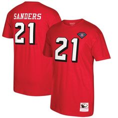 cd1b906e3 Deion Sanders San Francisco 49ers Mitchell   Ness Retired Player Name   Number  T-Shirt