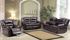 Shop Meridian Furniture Chelsea Brown Living Room Set with great price, The Classy Home Furniture has the best selection of to choose from Brown Leather Loveseat, Leather Sofa Set, Living Room Furniture, Furniture Sets, Home Furniture, Wayfair Living Room Sets, Meridian Furniture, Loveseat Sofa, Recliner