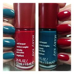 Have you gotten your hands on the Limited-Edition† Radiant Red and Tempting Teal Mary Kay® Nail Lacquers yet?