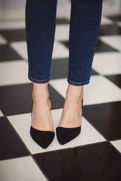 shoes, black heels