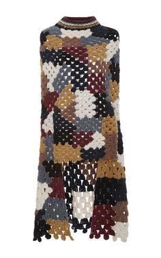 Alpaca Crochet Poncho by ROSETTA GETTY Now Available on Moda Operandi