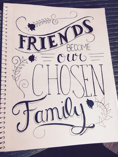 Friend Quote Calligraphy