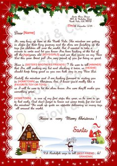 Printable Reply letter from Santa Kids Christmas by GioviAndCo #dearsanta #nicelist #christmas #navidad #happiness #happy #iwantthis #holidays #santa #letter