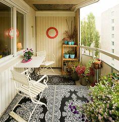 19 originelle ideen für einen gemütlichen balkon - teppich ... - Ideen Tipps Gestaltung Aussenraume