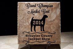 goat show awards, goat show trophies, custom awards, custom trophy, custom tile designs, custom trophies, custom trophy, livestock show awards, livestock show trophies