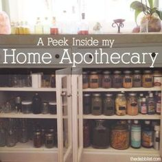 I just finished putting the final touches on my home apothecary corner in my new home and it is a thing of wonders. Most of my life, I've dreamed of being a medicine woman with my own garden of herbs, Healing Herbs, Medicinal Plants, Natural Healing, Natural Oil, Holistic Healing, Herbal Plants, Natural Health Remedies, Herbal Remedies, Holistic Remedies