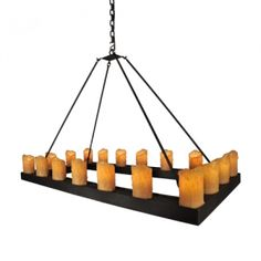 Candle Chandelier - RECTANGLE. Picture this over a dining room table or a kitchen island.