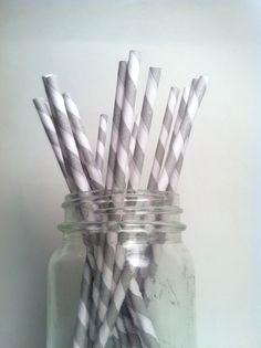 retro striped straws