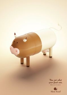 You eat what your food eats. Make sure it's organic.  #ads #advertising