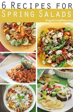 6 Recipes for Spring Salads-  Easy, healthy meals or side dishes for busy families.