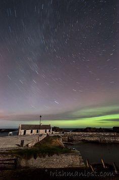 Northern Lights in Northern Ireland. Photo by Irishmanlost