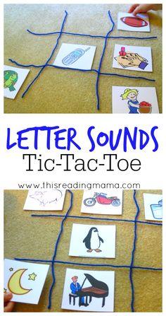 Tic tac toe des sons (une rangée de 3 mots contenant le son cible)