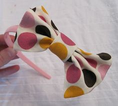 """Sutton Grace: fabric bow tutorial (""""Bow ties are cool."""" - the Doctor!)"""