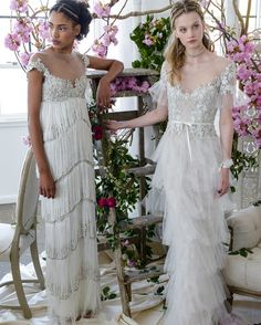 """If there's one thing the designers behind Marchesa know how to do, it's create stunning, feminine gowns. From the same team as Marchesa Couture came Marchesa Notte, and we could not be more excited for their newest collection of wedding dresses. Co-designed by Keren Craig and Georgina Chapman, these wedding dresses were designed to be cost-friendly. While they're certainly affordable, they're also entirely stunning. This season, the designers site their inspiration as """"cascading ivory,"""" and…"""