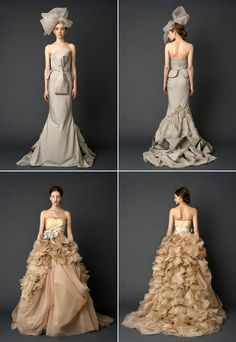 Vera Wang S/S 2012 bridal collection   source - asbrightasday.blogspot.com