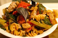 All Occasion Pasta: Rotelle with Swiss Chard & Sausage