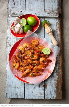Roasted Garlic Prawns {Recipe} - The Pretty Blog
