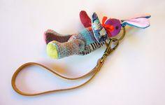 Handmade Keychain Bunny/Rabbit Keychain/key fob and by BlueTembo