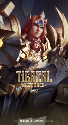 Tigreal Lightborn Defender by FachriFHR on DeviantArt Mobile Wallpaper Android, Black Phone Wallpaper, Mobile Legend Wallpaper, Phone Screen Wallpaper, Hero Wallpaper, Cellphone Wallpaper, Iphone Wallpaper, Alucard Mobile Legends, Legend Images