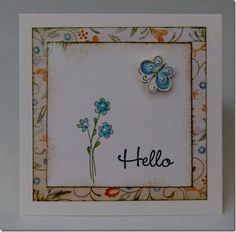 A Garden with Florentine paper = the sweetest little card.
