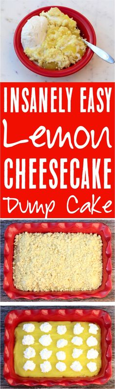 Ingredients) – Never Ending Journeys Easy Lemon Cheesecake Dump Cake Recipe! Ingredients) – Never Ending Journeys Lemon Dump Cake Recipe, Spice Dump Cake Recipe, Dump Cake Recipes, Dessert Recipes, Dump Cakes, Frosting Recipes, Poke Cakes, Amish Recipes, Cooking Recipes